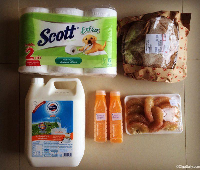 Хлеб и молоко - сколько стоит в Таиланде