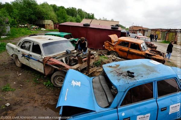 Сибирский кармагеддон - гонки старых машин в Академгородке (49)