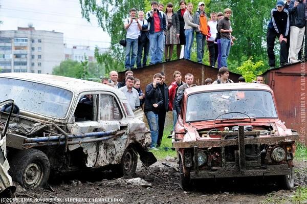 Сибирский кармагеддон - гонки старых машин в Академгородке (37)