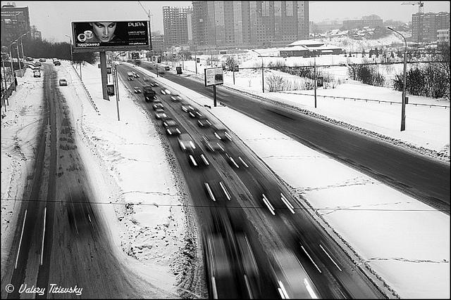 ЧБ стрит фото Новосибирска (81)