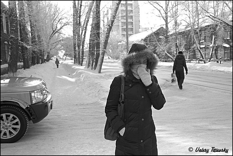 ЧБ стрит фото Новосибирска (70)