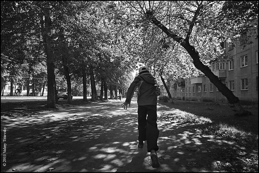 ЧБ стрит фото Новосибирска (59)