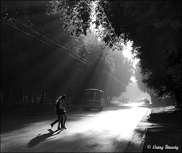 ЧБ стрит фото Новосибирска (58)
