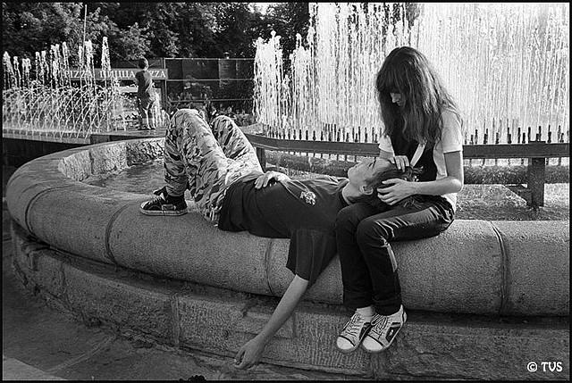 ЧБ стрит фото Новосибирска (54)