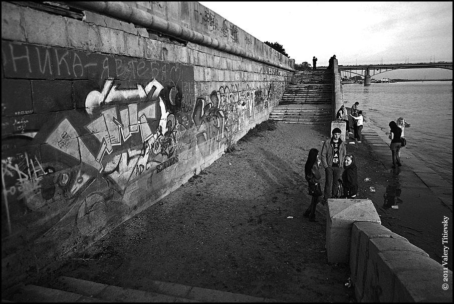 ЧБ стрит фото Новосибирска (43)