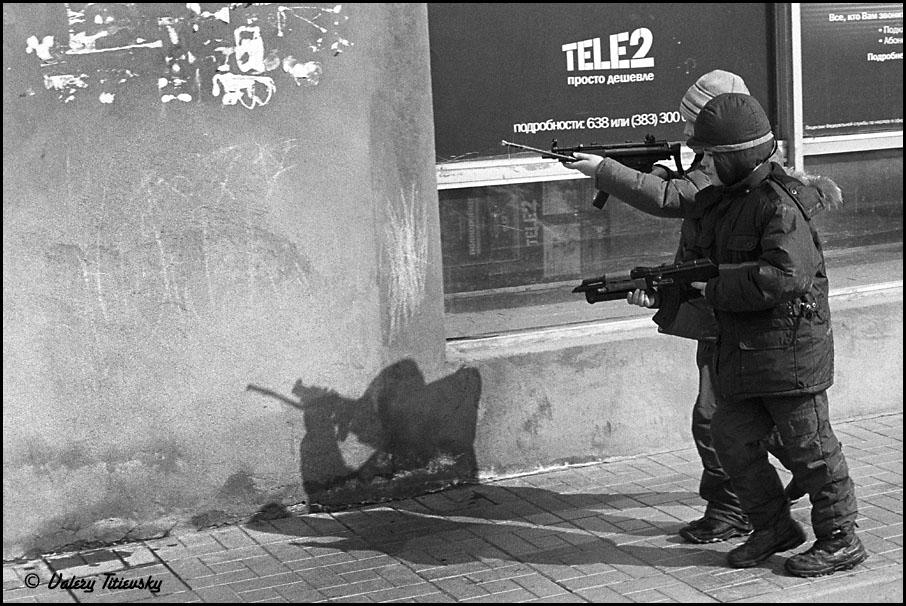 ЧБ стрит фото Новосибирска (40)