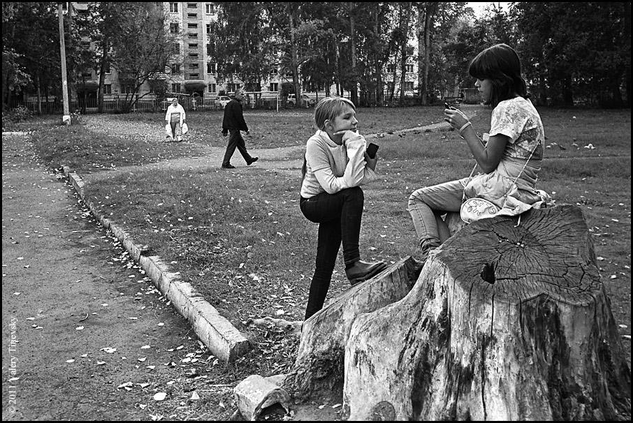 ЧБ стрит фото Новосибирска (21)