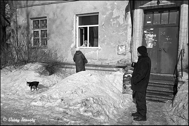 ЧБ стрит фото Новосибирска (16)