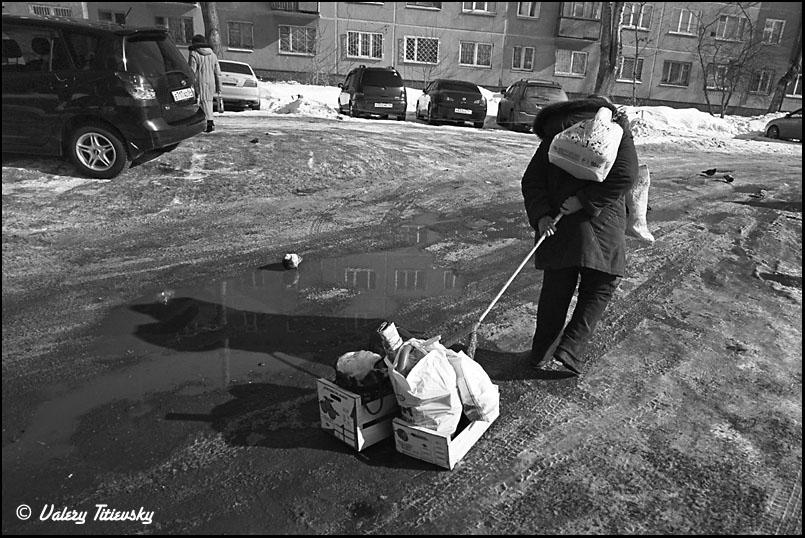 ЧБ стрит фото Новосибирска (13)