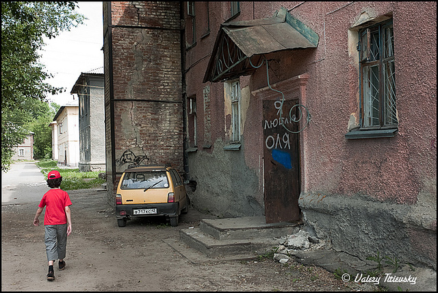 ЧБ стрит фото Новосибирска (11)