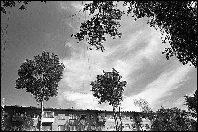ЧБ стрит фото Новосибирска (9)