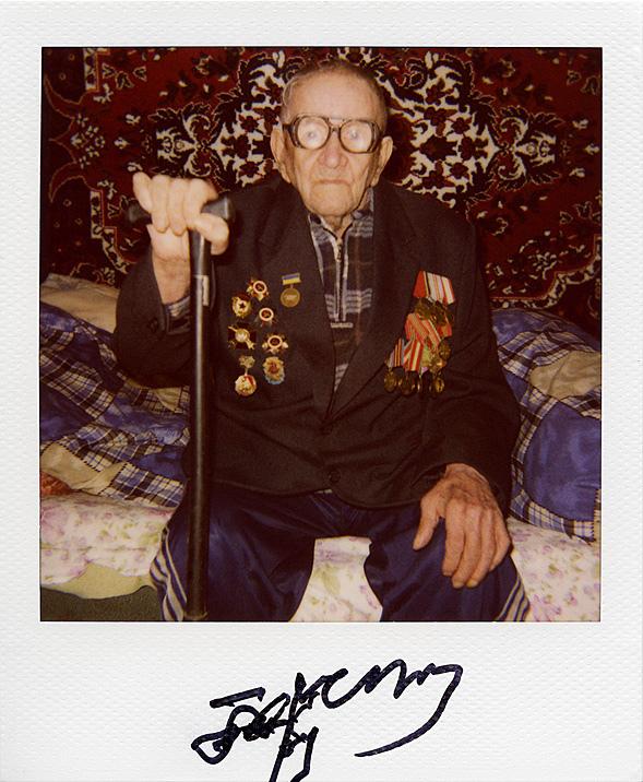 Портреты ветеранов войны на палароид