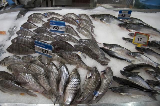 Рыба в магазинах Таиланда