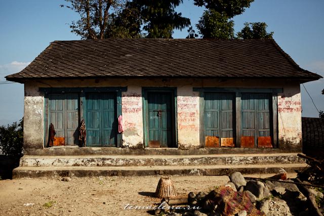 Домики в горах Непала
