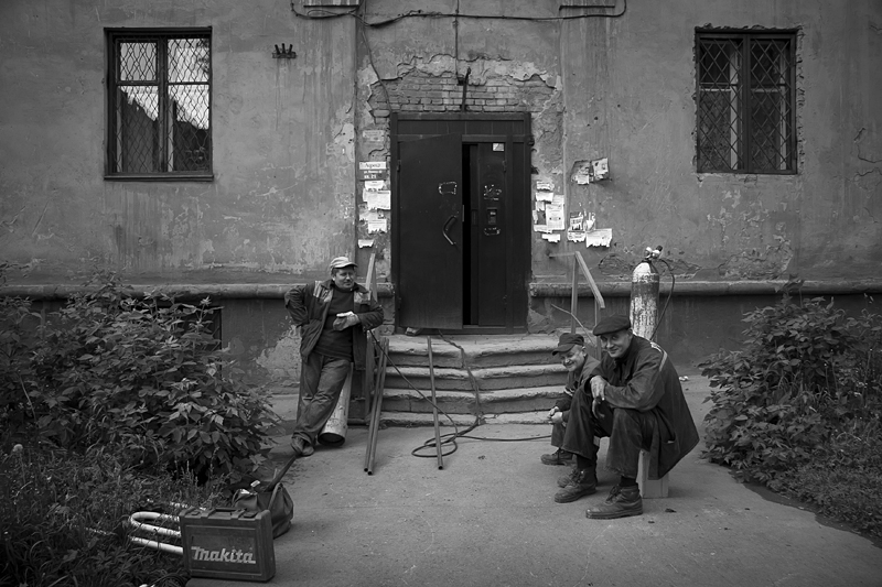 Фотоистория Александра Бендюкова. Новокузнецк. Чб фото (56)