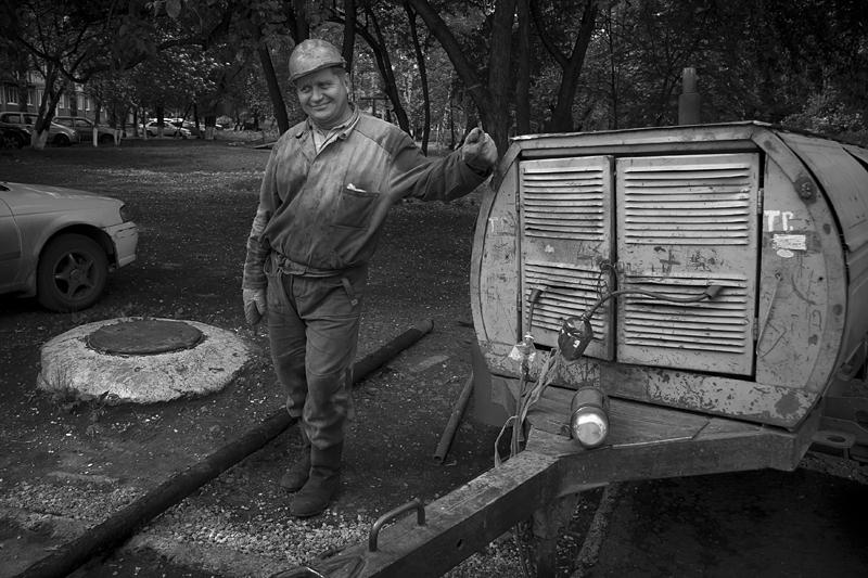 Фотоистория Александра Бендюкова. Новокузнецк. Чб фото (47)