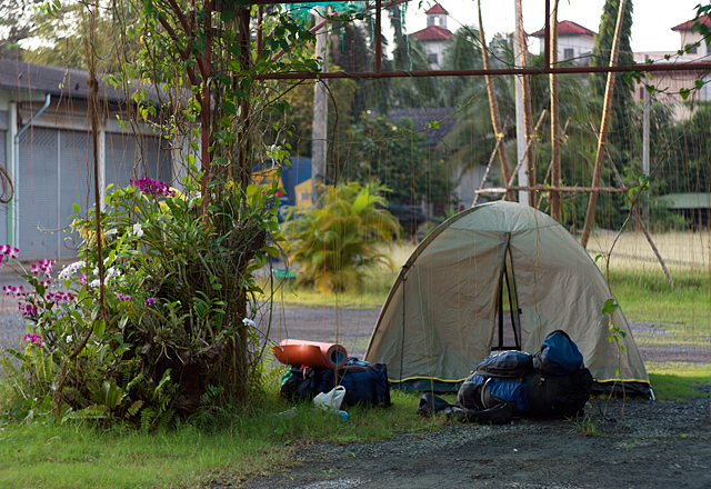 Ночевка в палатке в Таиланде