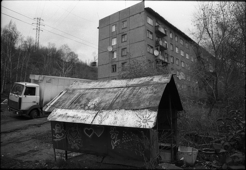 Фотоистория Александра Бендюкова. Новокузнецк. Чб фото (60)