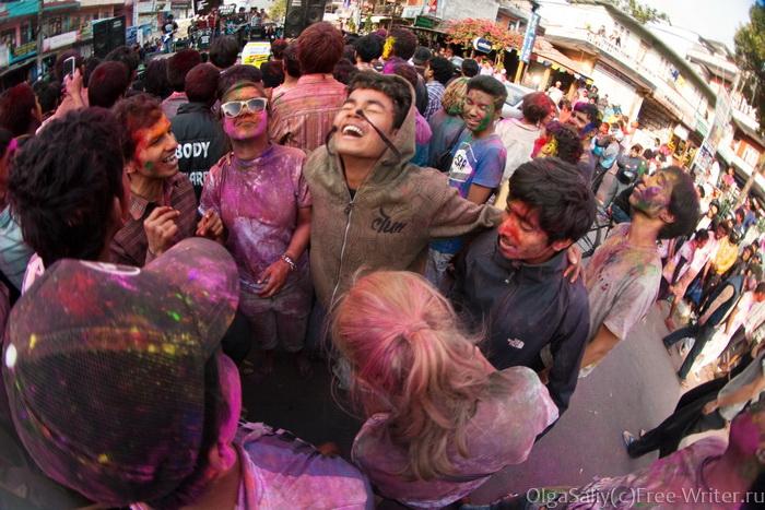 Холи фестиваль в Непале