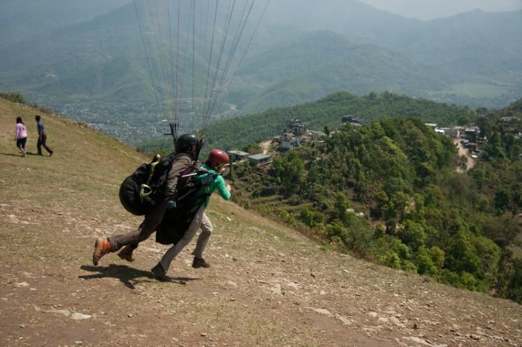 Полеты на парапланах в Покхаре