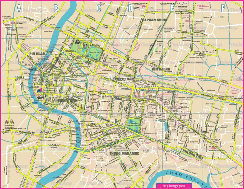 Карта автобусов Бангкока