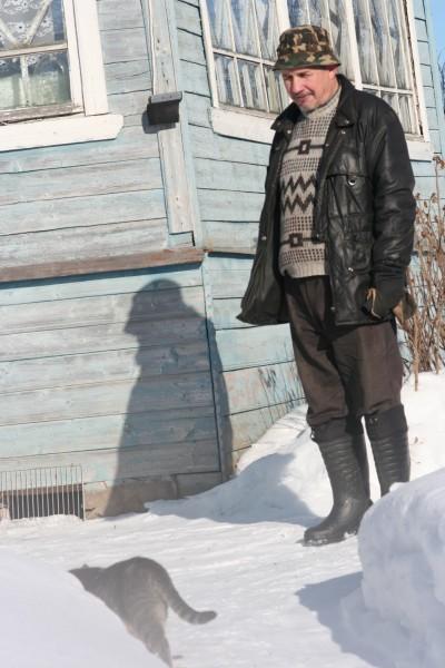 Мужчина в деревне