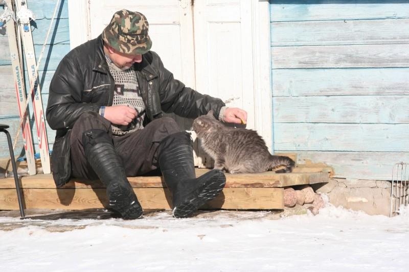 Русская деревня зимой (2)