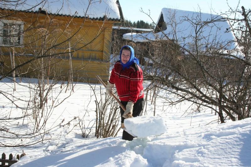 лыжи в деревне (2)
