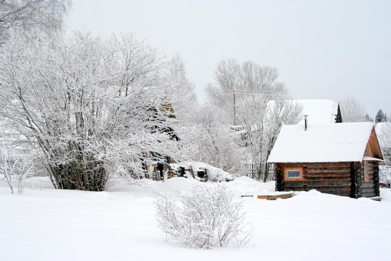 фото деревни зимой (17)