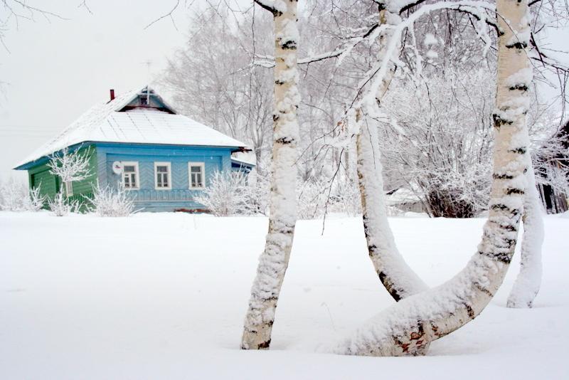 фото деревни зимой (14)