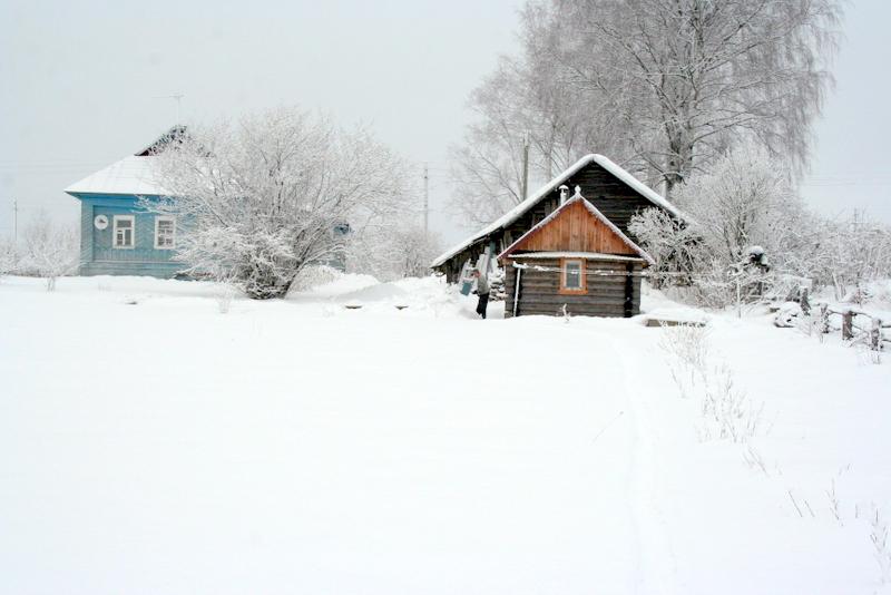 фото деревни зимой (7)