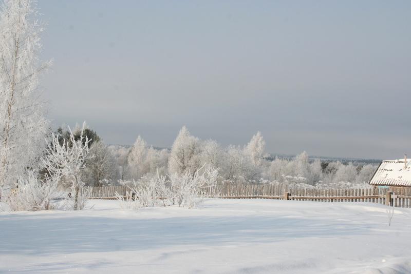 Русская деревня зимой (24)