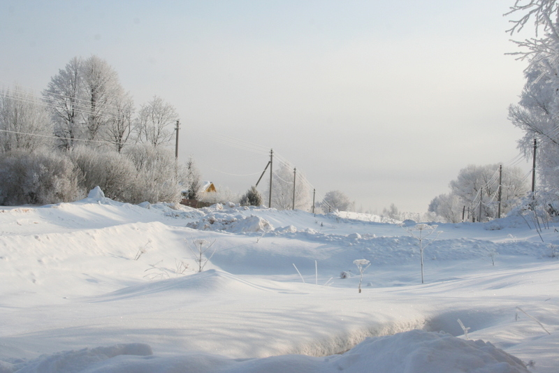 Русская деревня зимой (14)