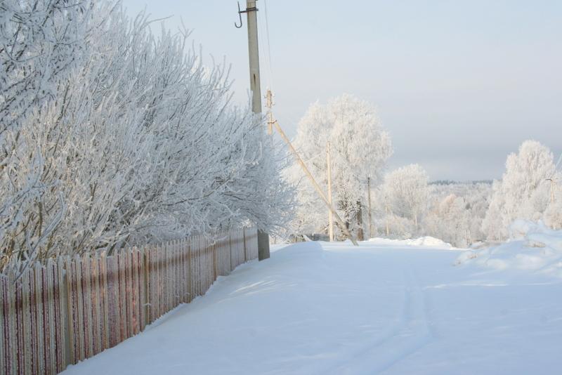 Русская деревня зимой (13)