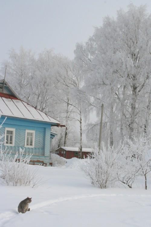 Русская деревня зимой (7)