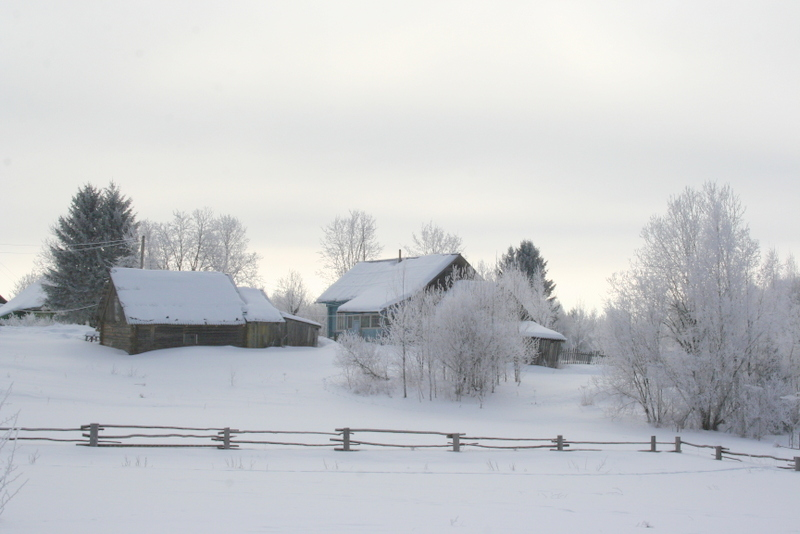 Русская деревня зимой (6)