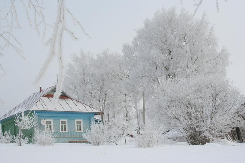Русская деревня зимой (4)