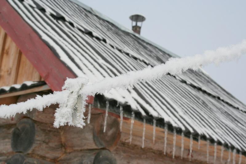 Русская деревня зимой (1)
