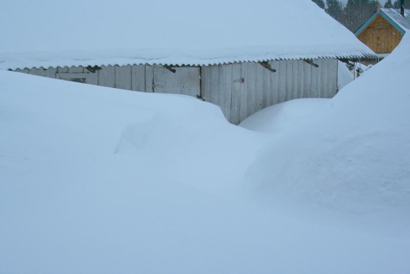 Снегопад в деревне (42)