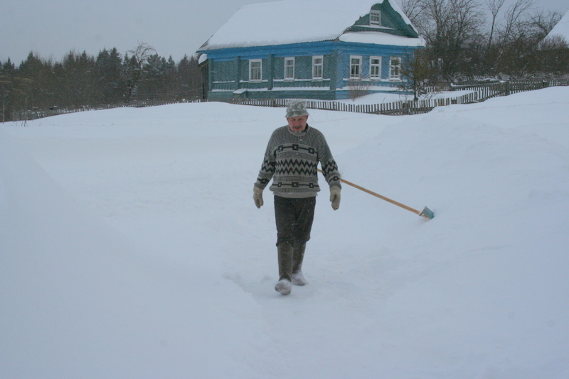 Снегопад в деревне (37)