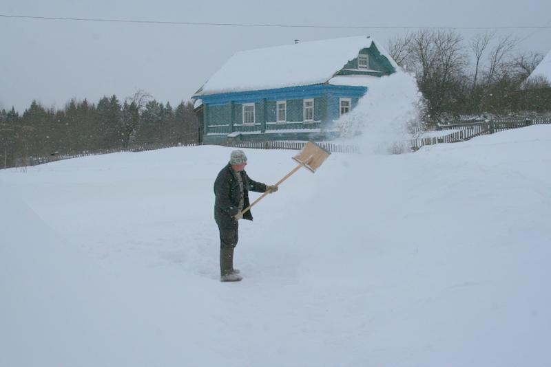 Снегопад в деревне (35)