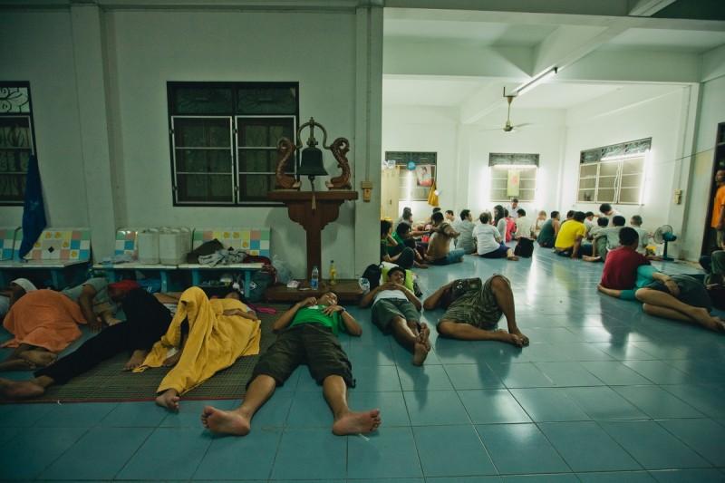 Спящие люди на фестивале Сак Янт