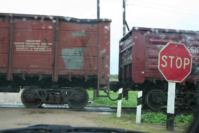 Сцепление вагонов товарняк