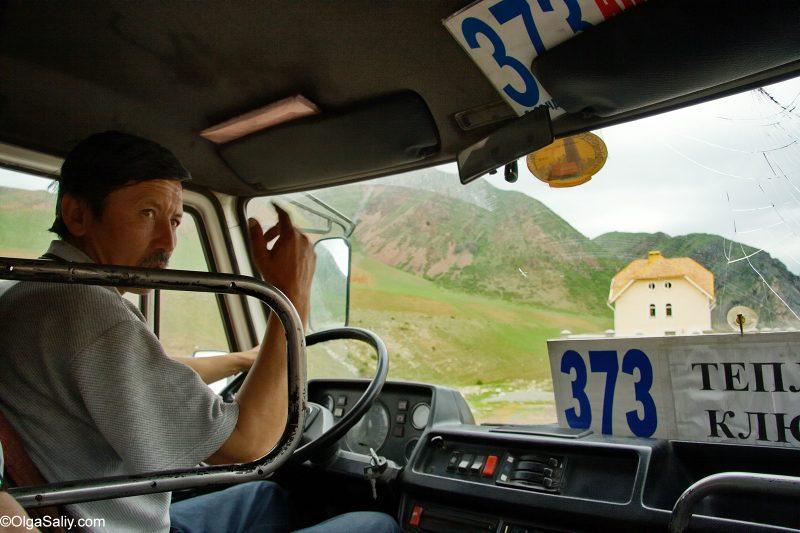 Водитель маршрутки в Бишкеке