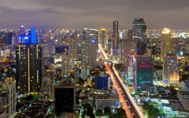 Саторн Бангкок центр с высоты