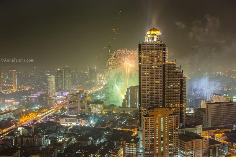 Фейерверк салют Бангкок Тайланд