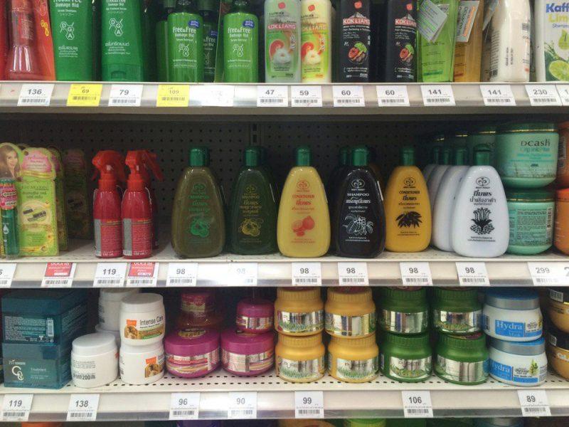 Зелёный шампунь в Таиланде