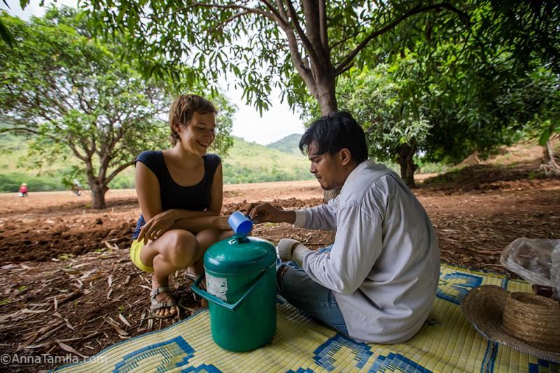 Работа в полях Тайланда