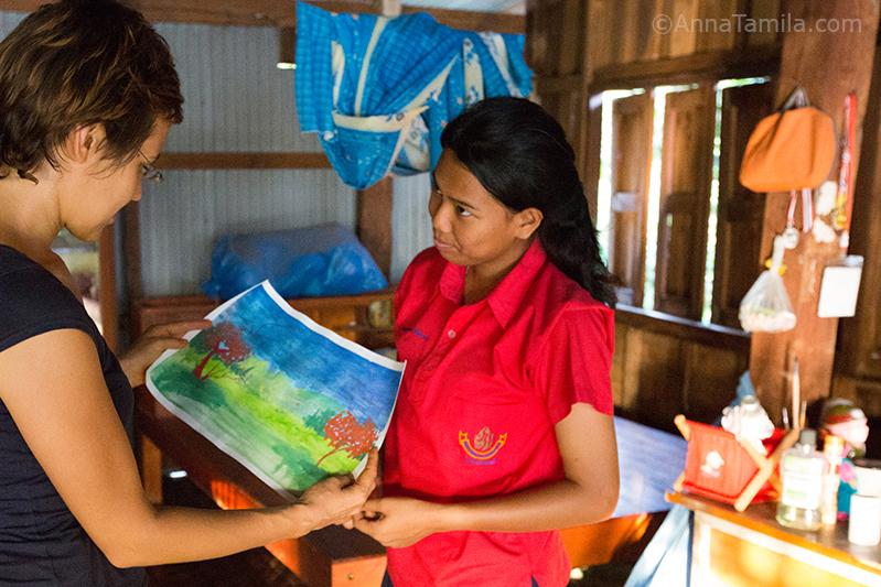 Девушка в тайской деревне