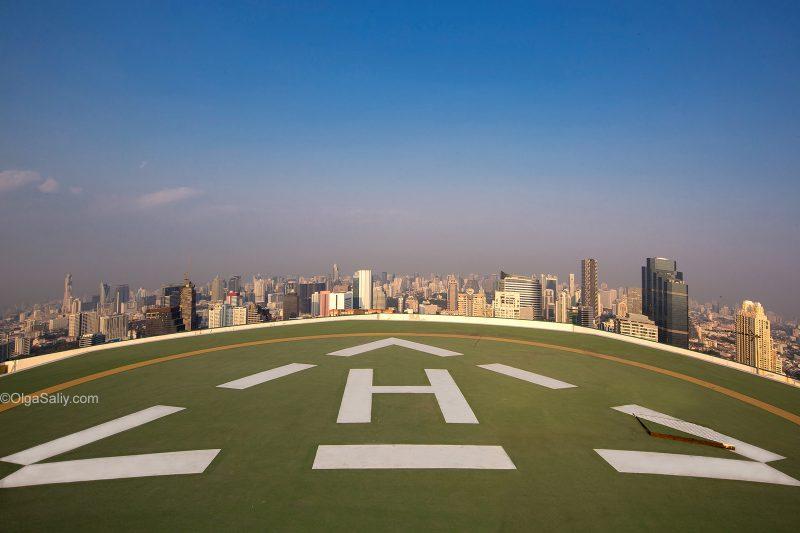 Вертолётная площадка на крыше в Бангкоке